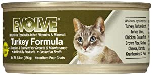 Evolve Natural Formula Canned Cat Food Case Turkey