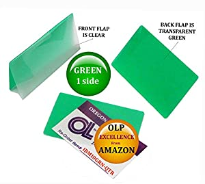Amazon Com Green Clear Ibm Card Laminating Pouches 2 5