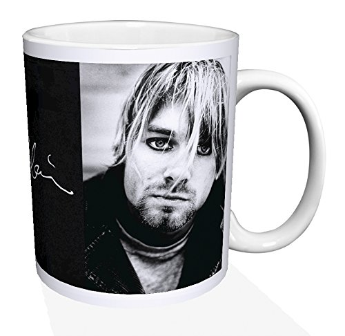Nirvana Kurt Cobain Signature Alternative Grunge Rock Music Porcelain Gift Coffee (Tea, Cocoa) 11 Oz. Mug (Alternative Rock Gifts compare prices)