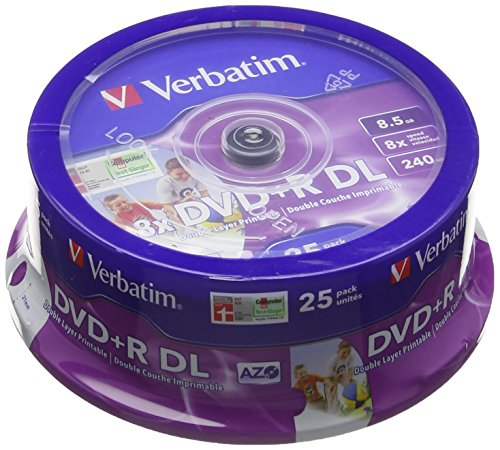 verbatim-43667-dvd-r-dl-8x-25-pack-printable-optical-media