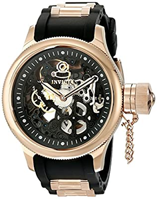 Invicta Men's 17267 Russian Diver Analog Display Mechanical Hand Wind Black Watch