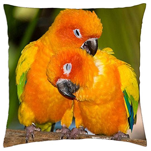 """Parrots in love - Throw Pillow Cover Case (18"""" x 18"""")"""
