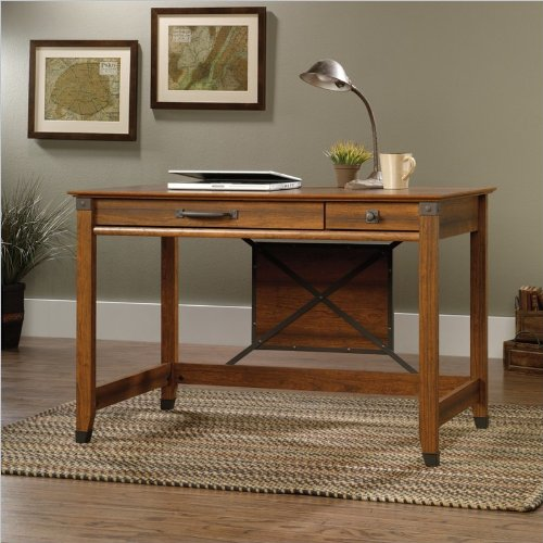 Sauder Carson Forge Writing Desk, Washington Cherry Finish front-1020344