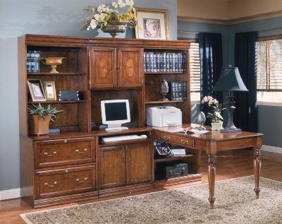 Buy Low Price Comfortable Glen Eagle Brown Cherry Hardwood Computer Wall Unit with Desk Glen Eagle Brown Cherry Collection (B002A10T6C)