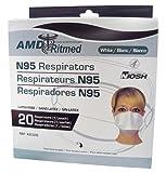 海外出張・旅行用 サーズ、鳥・豚インフルエンザ&新型インフルエンザ用 N95 マスク (ダックビルタイプ 20枚入)
