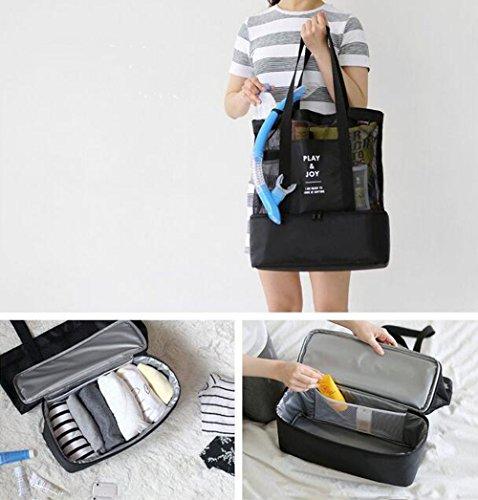 Latte da viaggio, Organiser per sedile posteriore auto appeso storage Tote Borsa termica da picnic bevande supporto, scatola con porta iPad/Phone