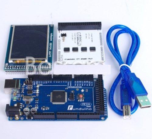 """Shanhai Mega2560 R3 2012 Atmega16 2 4"""" Tft01 Lcd Shield 2 4"""" Tft Lcd Arduino Usb"""