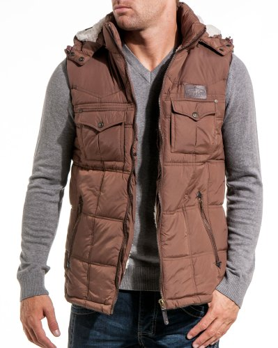 Lenny and loyd - Brown man jacket with detachable hood - Color: Brown Size: XL
