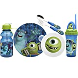 Zak Designs Disney 6-Piece Kids Mealtime Set, Monsters University
