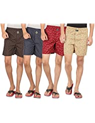 Joven Assorted Printed Cotton Boxer Pack Of 4 - B01EY0UQPK
