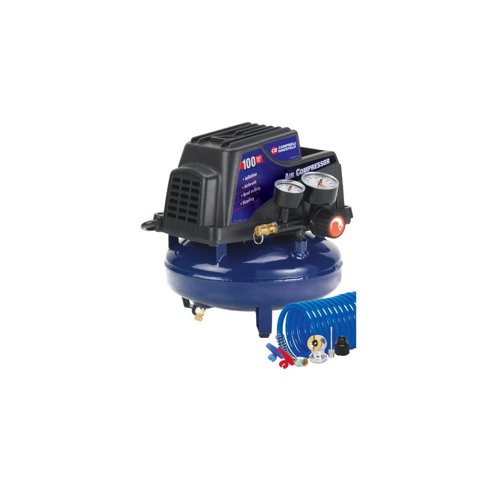 Campbell Hausfeld FP2028 1 Gallon Oil Free Pancake Air Compressor with Accessory Kit