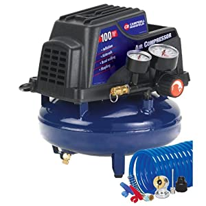 Campbell Hausfeld FP2028 1-Gallon Oil-Free Pancake Air Compressor