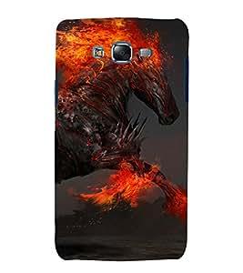 printtech Darksider Horse Flaming Stallion Back Case Cover for Samsung Galaxy J2 / Samsung Galaxy J2 J200F