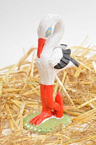 Deko Gans Keramik Figur handmade Deko Figur Wohnzimmer Deko weiß rot schön