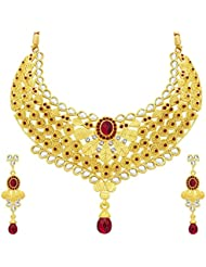 Sukkhi Dazzling Gold Plated AD Necklace Set For Women