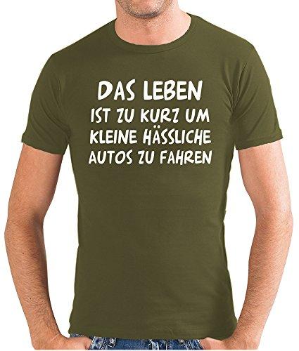 touchlines-herren-das-leben-ist-zu-kurz-t-shirt-sf117-olive-m