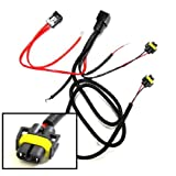 iJDMTOY H11 880 890 Relay Wiring Harness For HID Conversion Kit, Add-On Fog Lights, LED Daytime Running Lamps and more