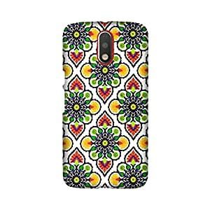 Moto G Play Perfect fit Matte finishing Motif Pattern Mobile Backcover designed by Abaci(Multicolor)