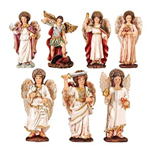 Amazoncom Archangels 5 Set Of Seven Piece Statue