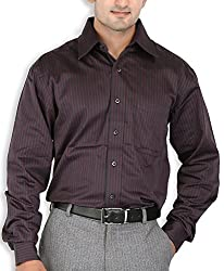 SPEAK Black Stripes Cotton Mens Formal Shirt