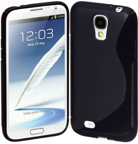 Galaxy S4 Case, Galaxy S4 Cases- Compatible With Samsung Galaxy S4 Siv S Iv I9500 S4 Case- Soft Jelly Case Shell Cover Skin Cases By Cable And Case - Black Galaxy S4 Case