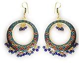 Rajasthani Meenakari Jhumki - bali -Traditional Handcrafted Fashion EarringsFor Women And Girls Jewellery (blue)