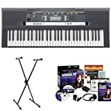 Yamaha PSRE243 61-Key Portable Keyboard with X-Style Keyboard Stand and Survival Kit