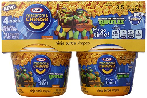 Kraft Easy Mac and Cheese Teenage Mutant Ninja Turtles Shapes Single Serve Cups, 7.6 Ounce