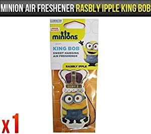 Despicable Me Minions Rasbly Ipple Bob Fragrance Car Air Freshener Licensed x 1