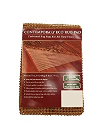 NaturalAreaRug Contemporary Eco Hold Rug Pad Earth Friendly Provides Extra Cushion For All Hard Surfaces of size 8\' x 10\'. Heavier and Thicker than Most Rug Pads