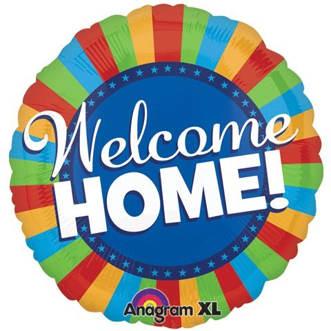 "Welcome Home Colorful Blitz 32"" Mylar Foil Balloon"