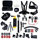 MCOCEAN Accessory Great Kit for Gopro Hero 1/ 2/ 3/ 3+/ 4 (Black)