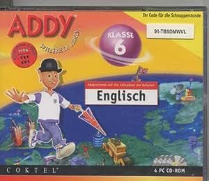 Addy Spielerisch lernen  Englisch Klasse 6 Abgestimmt auf die Lehrpläne der Schulen 4 Pc Cd Rom