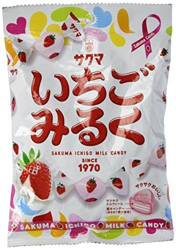 Sakuma Strawberry [Ichigo] Milk Candy , 3.52oz-bag [Japan Import]