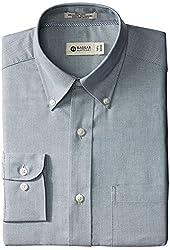 Haggar Men's Regular-Fit Pinpoint Oxford Solid Dress Shirt