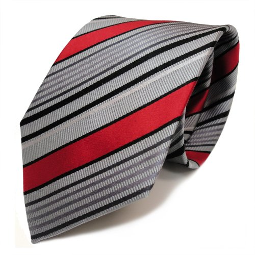 mexx cravate rayures gris rouge noir soie chapeaux et bonnets. Black Bedroom Furniture Sets. Home Design Ideas
