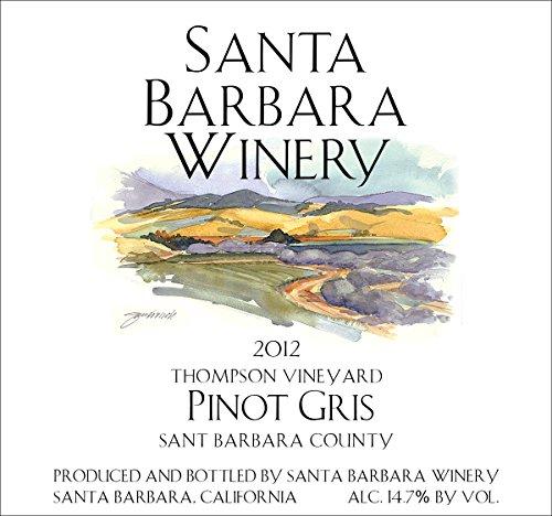 2012 Santa Barbara Winery Thompson Vineyard Pinot Gris 750 Ml