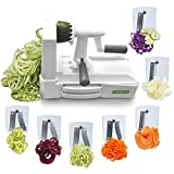 Spiralizer Ultimate 7-Blade Vegetable Slicer Strongest Heaviest Duty Veggie Pasta Spaghetti Maker for Healthy Low Carb/Paleo/Gluten-Free Meals With 4 Exclusive Recipe E-Books …