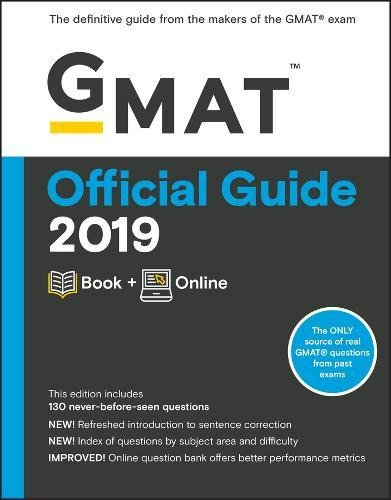 GMAT Official Guide 2019: Book + Online (Official Guide for GMAT Review) [GMAC (Graduate Management Admission Council)] (Tapa Blanda)