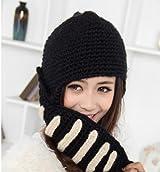 ローマ騎士風ニット帽 男女兼ナイトニットキャップ 騎士風ヘルメット型帽子 2色(ブラック)