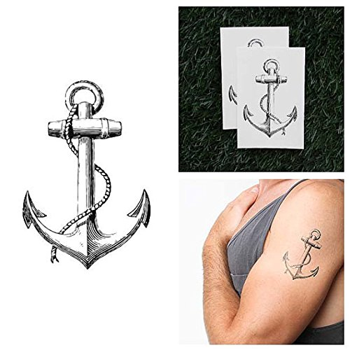 tattify-vintage-anchor-temporary-tattoo-submerged-set-of-2-other-styles-available-high-quality-and-f