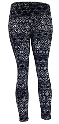 Schonfeld Women's Printed Fleece Lined Footless Leggings - Small