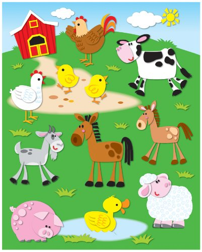 Carson Dellosa Farm Shape Stickers (168020)