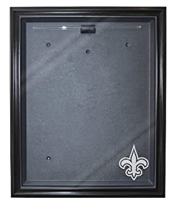 New Orleans Saints Cabinet Style Jersey Display, Black by Caseworks