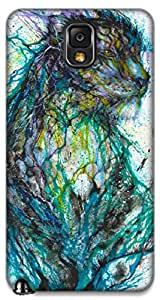 The Racoon Grip printed designer hard back mobile phone case cover for Samsung Galaxy Note 3. (multicolor)