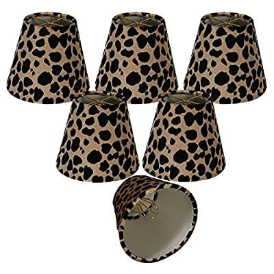 Royal Designs Black & Brown Large Leopard Print Chandelier Lamp Shade
