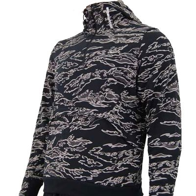 Nike Air Lucid Hoody Sweatshirt Black/Grey Mens Size S