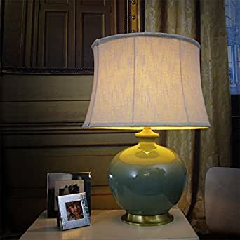 Ddl Ceramic Table Lamp Bedside Lamp Bedroom Living Room Decorative Lamp