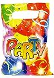 Kit de Fête anniversaire PARTY : 6 invitations, 6 sacs et 72 cadeaux pour les invités