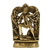 Goddess Kali Statue Messing Aus Indien